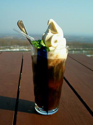 士幌高原ヌプカの里コーヒーフロート