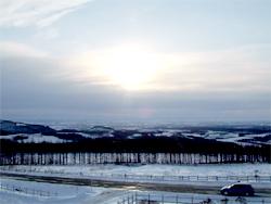 士幌高原の日の出