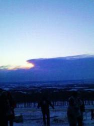 士幌高原の初日の出